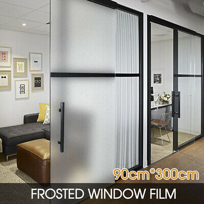 Frosted Frosting Window Glass Film Sand Blast Clear Privacy 90cm x 3m AU POST