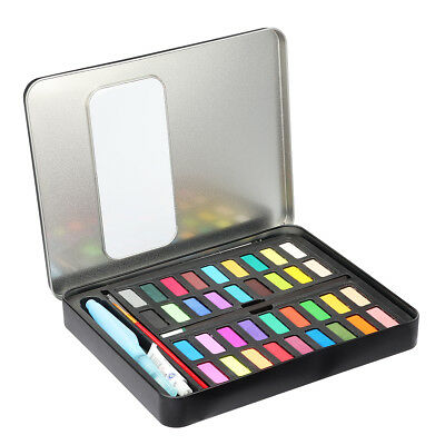 Pigment Art Painting 36 Colors Solid Watercolor Set Box with Paper Brush Pen