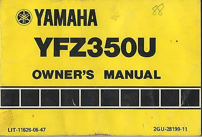 1988 Yamaha Atv  Yfz350U  Lit-11626-06-47 Owner's Manual (239)