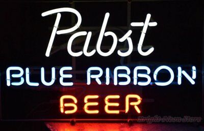 """Pabst Blue Ribbon Neon Sign For Store Beer Bar Pub Real Neon Light24""""X20""""K593"""
