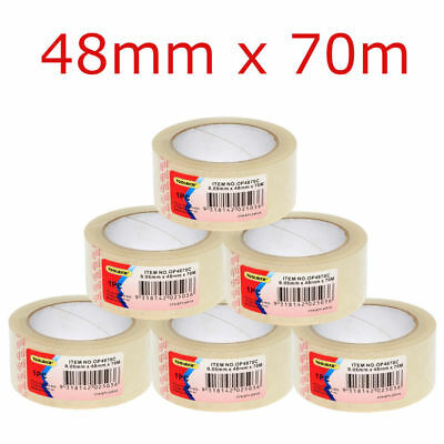 CLEAR PACKING TAPE CLEAR STICKY TAPES ADHESIVE BULK BUY 48mm x 70m 45 MICRON 45U