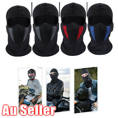 AU Unisex Motorcycle Bike Riding Full Face Mask Head Cover Hood Outdoor Cycling