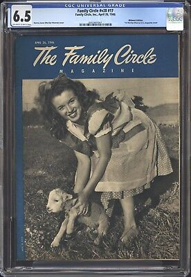 FAMILY CIRCLE CGC FN+ 6.5 - 1ST USA NORMA JEAN, MARILYN MONROE COVER  April 1946