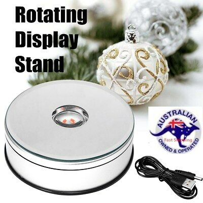 4.3'' 2kg 7 Color LED 360° Rotating Display Stand Electric Turntable Show Holder