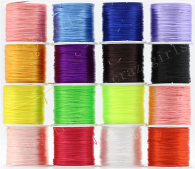 Elastic Strong Stretchy String Assorted Crystal Beading Cord Line Craft Jewelry