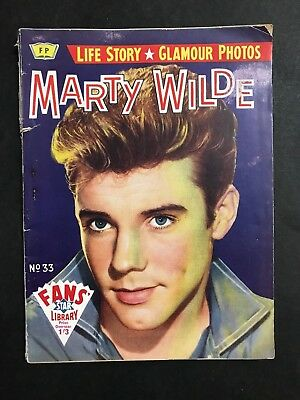 FANS STAR LIBRARY MAGAZINE #33 MARTY WILDE COVER, FROM 1960's
