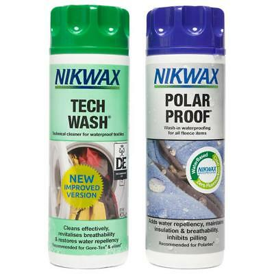 Nikwax Polar Proofer & Tech Wash Twin Pack 300Ml Fabric Washing Treatment