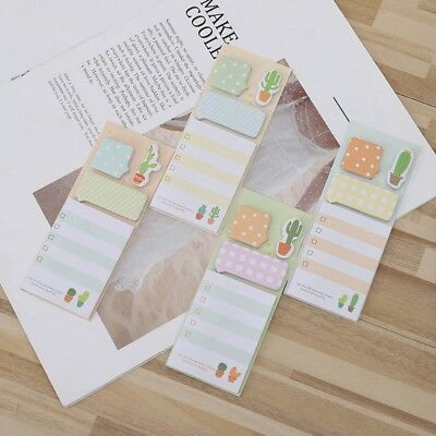 Cactus Memo Pad Sticky Notes Notebook Pads Office Supply Bookmark Paper Sticker