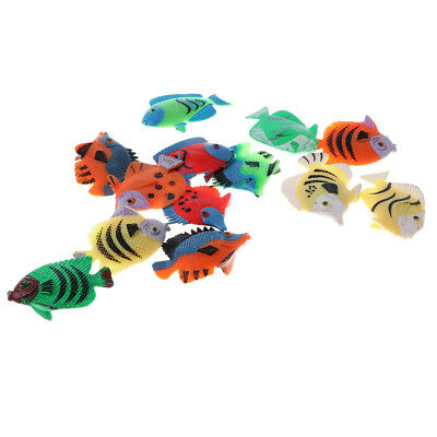 12Pcs Tropical Fish Figures Toy Play Set Plastic Animal Toy Kids Pretend Toy