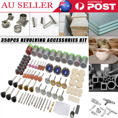 350Pcs Grinding Sanding Polishing Rotary Tool Wheel Accessory Kit Set For Dremel