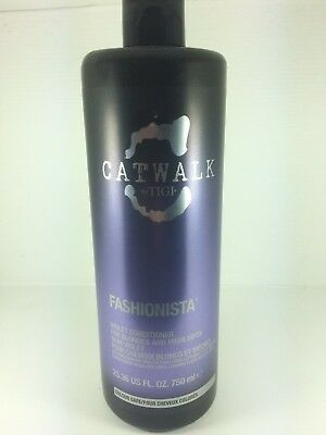 Tigi Catwalk Fashionista Violet Conditioner 750Ml For Cool Blondes