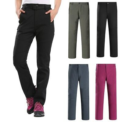 Lady Soft Shell Thermal Pants Sport Hiking Golf Winter Warm WaterProof 6 Colors