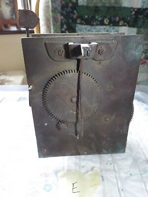 Antique / Vintage Grandfather Clock movement - spares & repairs - E