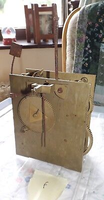 Antique / Vintage Grandfather Clock movement - spares & repairs - F