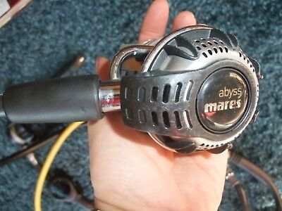 MARES ABYSS  1st stage YOKE and 2nd stage scuba dive diving regs