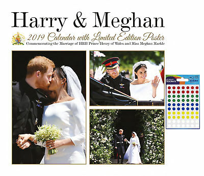 Calendar - Harry & Meghan 2019 Calendar with Limited Edition Poster