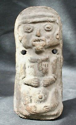 Pre Colombian Mayan Clay Standing Statue Figure South American Primitive Art