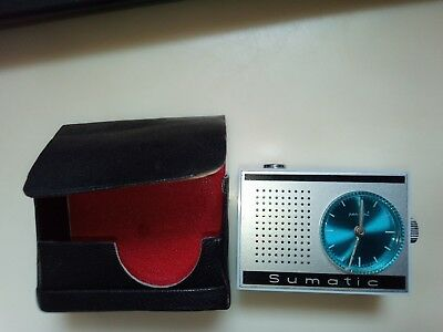 Vintage piece of History  Sumatic pocket Alarm Clock made in DDR (east Germany)