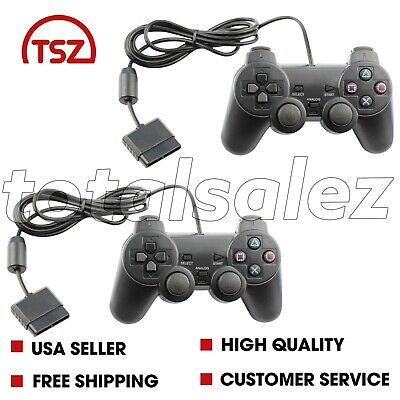2 For Sony PS2 Playstation 2 Blue Twin Shock Game Controller JoyPad Remote