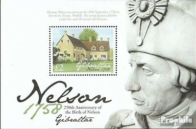 Gibraltar block84 mint never hinged mnh 2008 lord Horatio Nelson