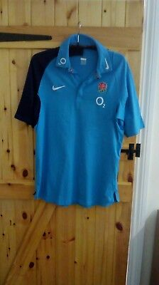 """Two Tone Blue England Rugby Union Shirt By Nike Size Xl 45/47"""" - New"""