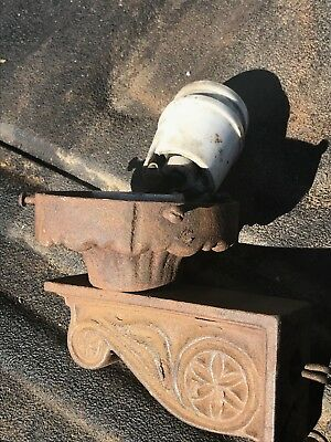 Antique Cast Iron Wall Sconce Light Fixture  W/ Socket, Architectural Salvage