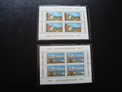 romania - stamp yvert and tellier N° 3033 3034 x4 n (Z14) stamp romania