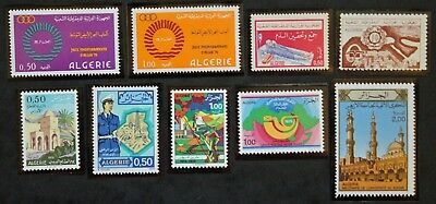 STAMP ALGERIA / ALGERIA STAMP Yvert and Tellier 9 stamps de 1975 n (Cyn23)