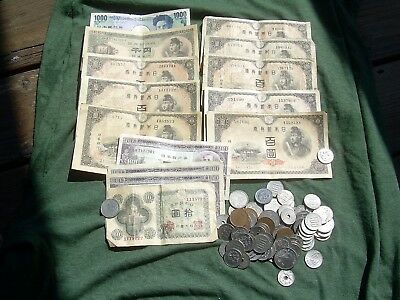 Japan Exchange Vacation 10,830 Yen Coin and Notes