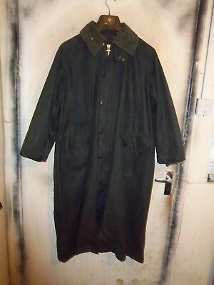 Barbour Burghley Waxed Duster Riding Jacket Size C40 102Cm