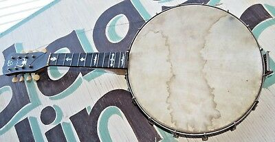 Vintage Early S.S. Stewart THOROUGHBRED Banjo antique vintage Inlaid MOP