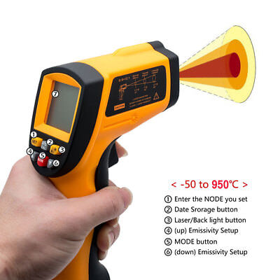 Handheld LCD Digital Laser Thermometer Temperature Gun Infrared Non-Contact IR