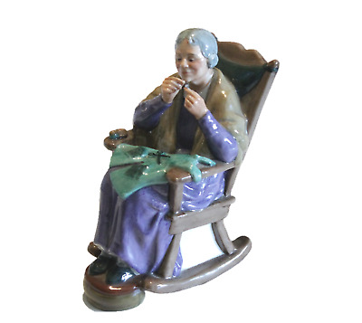 "Royal Doulton Porcelain Figurine ""A Stitch in Time""  MINT!"