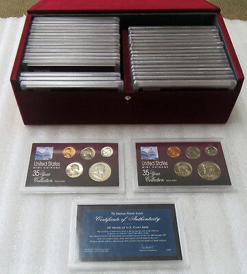 1963-1997 35 Years of US Coin Sets in Display Box