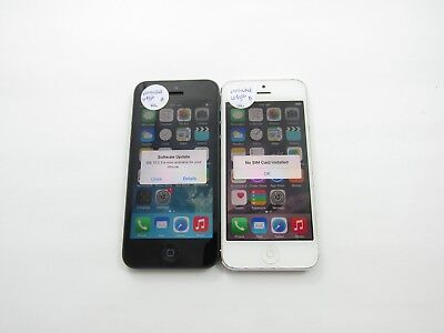 Lot of 2 Apple iPhone 5 64GB Unlocked Check IMEI Good Condition 4-737
