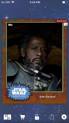 Topps Star Wars Digital Card Trader ? Saw Gerrera S4 Base Variant Insert
