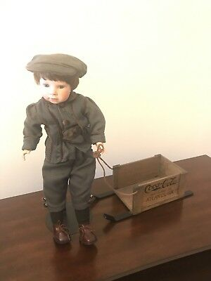 Coca-Cola Delivery Doll with Sled