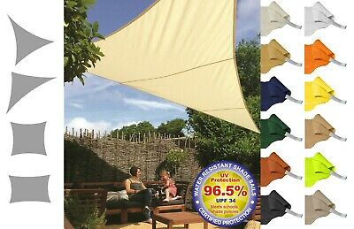 Kookaburra Water Resistant Shade Sail Sun Canopy Patio Awning Garden 96%UV Block