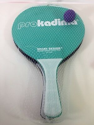 Sports Design: Pro Kadima Paddle Ball Purple & Teal Paddles Brand New Smashball