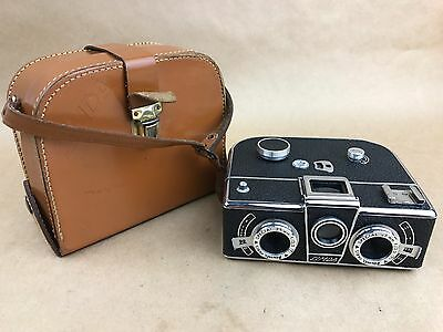 Simda Panorascope Stereo w/ 25mm f/3.5 Roussel Special - Rare France Camera