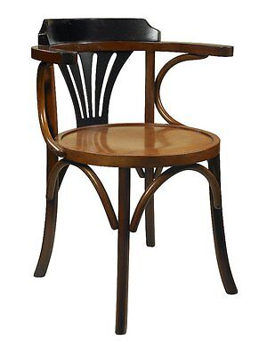 G690: Bentwood Armchair, VIENNESE COFFEE HOUSE CHAIR WITH BLACK BACKREST