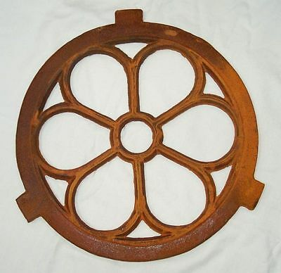 G1017: Iron Window, Cast Iron Window, Barn Window, Cast Iron Window Round