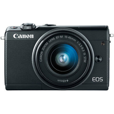 Canon EOS M100 Mirrorless Digital Camera with EF-M 15-45mm IS STM Lens (Black)