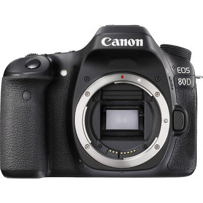 Canon EOS 80D 24.2 MP CMOS WiFi NFC Digital SLR Camera Body HD 1080p Video