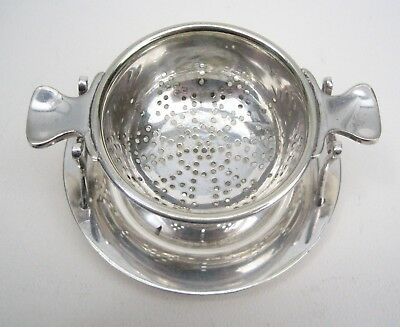 Vintage Silver Plated Tea Strainer c1920-30's with Drip Stand