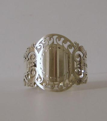 A Good Quality Antique Sterling Silver Napkin Ring Sheffield 1910 Cooper Bros