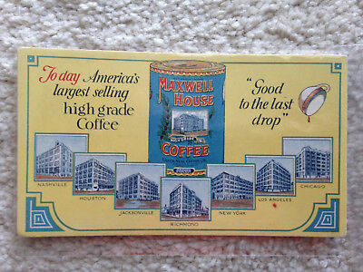 Original Cheek-Neal Maxwell House Ink Blotter Very Good Condition Small Version