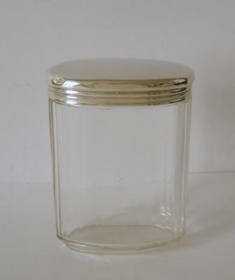 An Antique Sterling Silver Lidded Cut Glass Vanity Jar London 1907 Charles Fox