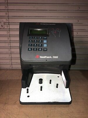 Schlage Hand Punch 2000 Xl Biometric Employee Time Clock Ethernet En200 Card