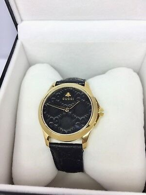 ef57dbb1aaf GUCCI G-TIMELESS BLACK GG Dial Stainless Steel Ladies Watch ...